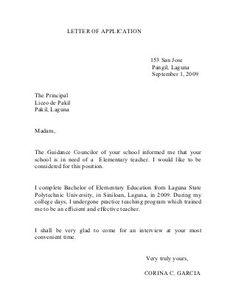 Teachers Application Letter Absent Letter, Job Letter, Letter Example, English Letter Writing, Application Letter For Teacher, Letter Of Employment, Letter School, Proposal Letter, Teaching Programs