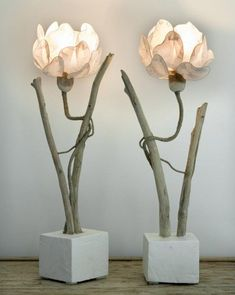 50 creative decorating lamp ideas for interior - SooPush Diy Luminaire, Luminaire Design, Flower Lamp, Flower Lights, Wooden Ceilings, Creation Deco, Giant Flowers, Room Lamp, Unique Lamps
