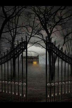 Halloween- love the gate
