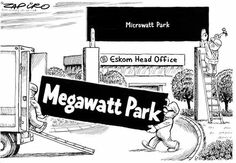 #eskom Megawatt Park renamed Microwatt Park #loadshedding @zapiro
