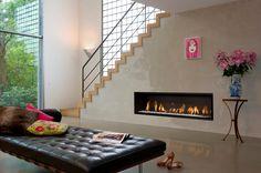 De #Bellfires Horizon Bell XL 3 is een prachtige horizontale #gashaard. #Gaskachel #Kampen #Interieur #Fireplace #Fireplaces