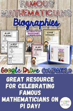 This is a GREAT resource to use around Pi Day! Students will have a FUN time choosing mathematicians to research and learn about all centered around your Pi Day activities! Social Studies Resources, School Resources, Emmy Noether, Mobile Learning, Blended Learning, Fun Time, Student Work, Educational Technology, Teacher Newsletter