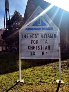 Best vitamin for a Christian is B1
