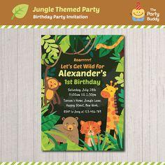 Jungle Safari Wild Animals Theme Birthday Party https://www.etsy.com/listing/464478619/jungle-safari-wild-animals-theme?ref=related-5