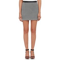 T by Alexander Wang Woven Striped Mini Skirt ($275) ❤ liked on Polyvore