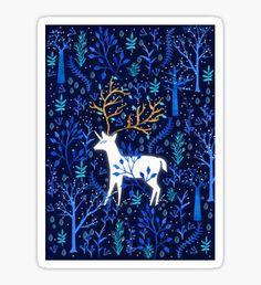 Deericorn In Blue Sticker