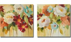 Promise of Giverny I & II by Lanie Loreth 2-pc Premium Stretched Canvas Set (Ready-to-Hang)