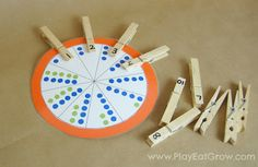 Number Recognition Wheel (and other homemade travel games for kids)