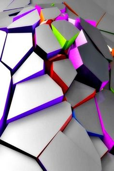 Colors 3D Puzzles Mobile Wallpaper