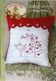 Trim the Tree Pillow Embriodery Pattern by by SaddleMountainFabric, $8.00