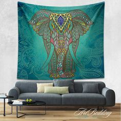 1000 Ideas About Elephant Tapestry On Pinterest Hippie
