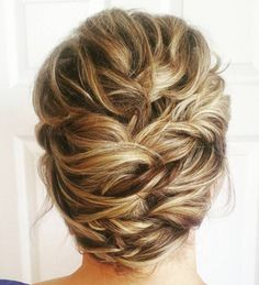 Twisted Updo For Shorter Hair mother of the bride.