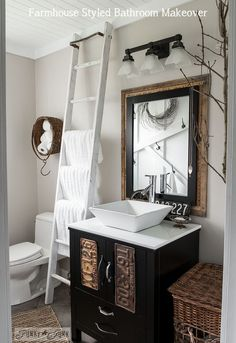 Make Your Own FARMHOUSE Bathroom... Yourself!