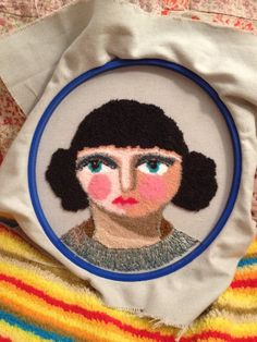 circles-of-rain:I finished the needle punched face. She turned out a bit more miserable looking than I intended but never mind! Really nice, S!
