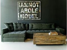 Recycled military fabric just makes this line of upholstered furniture that much better.