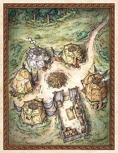 """This location art was created for the mobile game """"Steve Jackson's Sorcery! 3"""" and serves as an explorable encounter site within the larger game setting."""