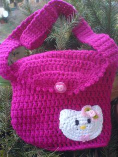 Hello Kitty Mädchentasche gehäkelt