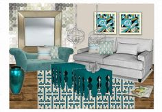 Inspired by One King Lane items Living room moodboard by A-Interior Designs