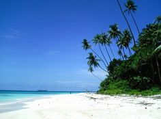 Beautiful Beach near Wabununa Village on WOODLARK Island in Milne Bay Province in PNG