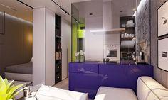 Pequeno apartamento com cores incríveis! - limaonagua
