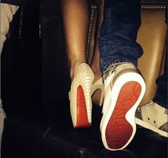 His and her red bottoms