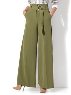 Paperbag Waist Palazzo Pant New York Company Pants For Women Fashion Outfits Fashion Pants