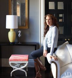 Brooke Shields' Greenwich Village apartment, Architectural Digest, March 2012