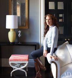 Brooke Shields' Greenwich Village apartment, Architectural Digest, March 2012