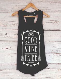 Yoga Tank Top Good Vibe Tribe by myPositiveVibes on Etsy