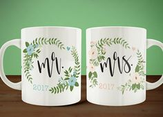 Mr and Mrs Couples Coffee Mugs, Bride Groom Mug Set, Couples Mugs, Wedding Gift, Anniversary Gift