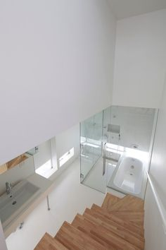 Masao Yahagi Architects: House in Gotemba. Wicked Bathroom #want