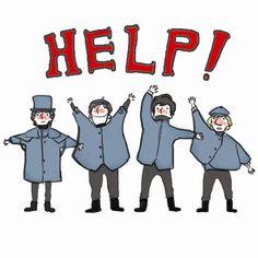 The Beatles -- HELP by pp077 @DeviantArt
