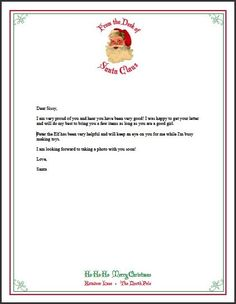 Letter From Santa - Free Printable Stationery | Living Locurto - Free Printables, How To DIY Ideas, Crafts & Party Ideas.