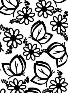 Stencils, Stencil Art, Butterfly Wallpaper, Heart Wallpaper, Flower Prints, Flower Art, Fabric Design, Pattern Design, Coloring Books