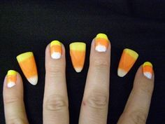 Halloween nails (: