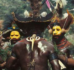*Huli men, Papau New Guinea פפואה גינאה החדשה www.papua-by-raz.co.il/papua