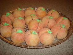 Italian Peach Cookies, i made these for Easter last year. Soooo cute and easy.