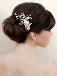 Vintage Rhinestone Bridal Hair Clip  ~ Karen by Hair Comes the Bride