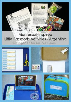 Resources and ideas for Montessori-inspired Little Passports activities - Argentina