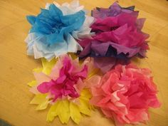 Kid's Garden Tea Party Paper Roses Luau Crafts, Flower Crafts, Sleepover Party, Luau Party, Beach Party, Tissue Paper Flowers, Paper Roses, Luau Birthday, Birthday Party Themes
