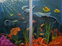 Waldorf ~ 4th grade ~ Human & Animal ~ Fish ~ chalkboard drawing