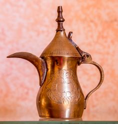 A brass pitcher that my mother brought back from Saudi Arabia 1980