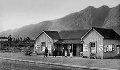 Franschhoek railway station, c1912.   Photo Franschhoek Muse…   Flickr