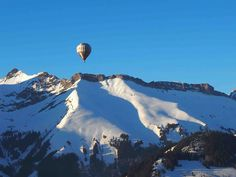 Flying High in Chaplin's World Balloon at Chateau d'Oex Switzerland, Mount Everest, Balloons, Mountains, World, Nature, Travel, Snow, Colour