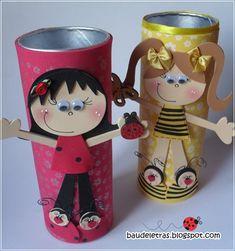 Kids Crafts, Tin Can Crafts, Candy Crafts, Foam Crafts, Craft Stick Crafts, Diy And Crafts, Arts And Crafts, Paper Towel Crafts, Disney Cards