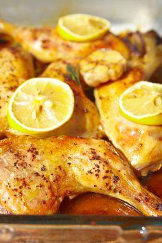 Kurča pečené s citrónom a rozmarínom