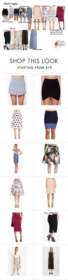 """""""Skirt lengths"""" by imogenl ❤ liked on Polyvore featuring LA: Hearts, Lush, BCBGMAXAZRIA, Godwin Charli, Needle & Thread, Torrid, Cooperative and Tart"""