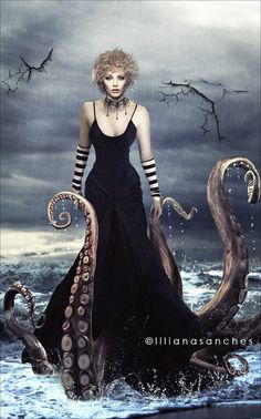This is From B Harden's Fantasy: dragons Board..........ursulla the sea witch  by `Princess-of-Shadows  Digital Art / Photomanipulation repinned by www.BlickeDeeler.de