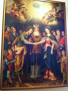 Desposorios de la virgen, atribuido a Sabastian López de Arteaga