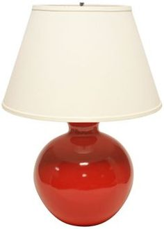 Haeger Potteries Red Bristol Ceramic Table Lamp